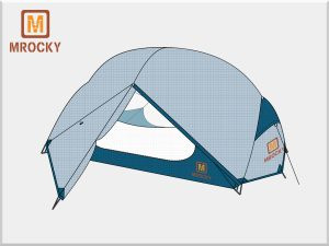 Outdoor Ultralight Backpacking Tents 2 Person 3 Season & 4 Season BT-NAL05